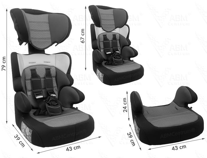 Informacje o foteliku z pasami 9-36 kg
