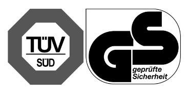 Produkt posiada certyfikat TUV SUD, GS