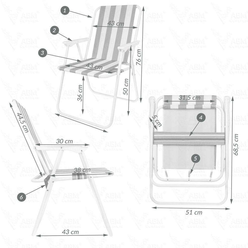 Krzesło turystyczne wymiary