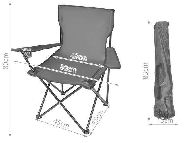 Krzesło wędkarskie wymiary